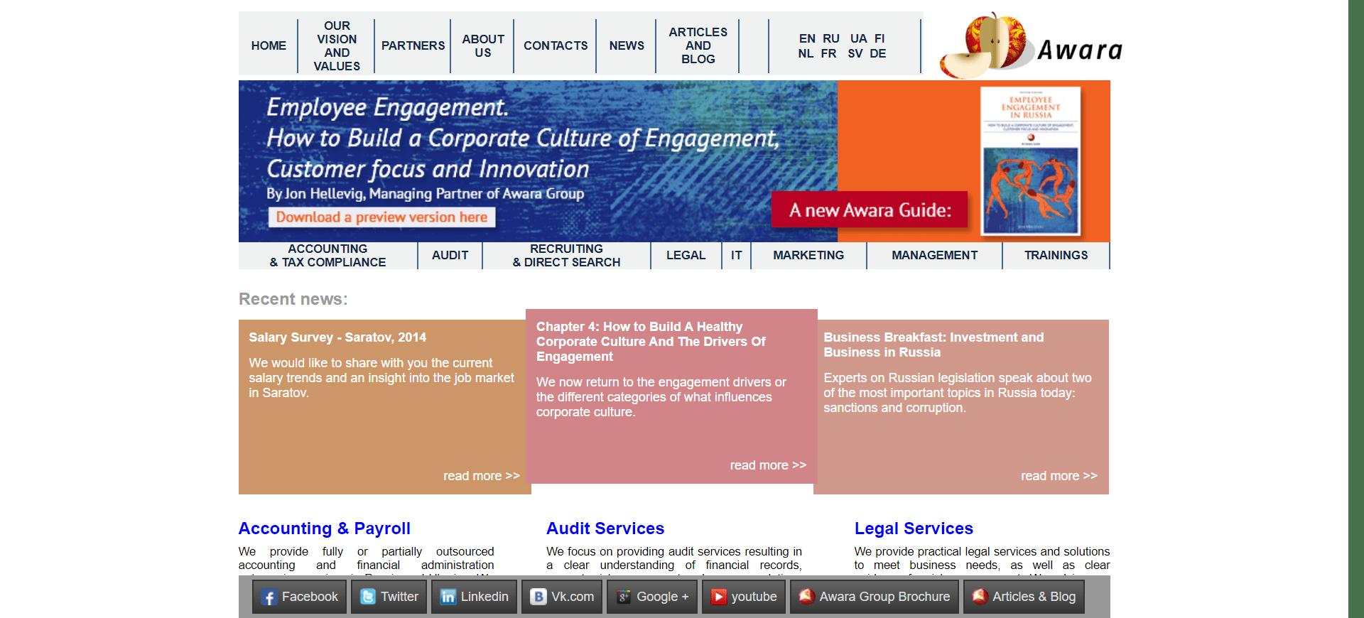 Awara original website